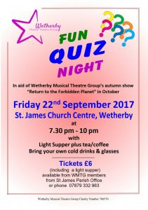 Upcoming Event – Quiz Night 22nd September